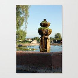 Santa Barbara Mission Fountain Canvas Print