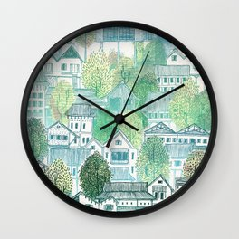 Jungle Village Wall Clock