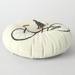 Cat Riding Bike Floor Pillow