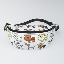 Cute Toy Dog Breed Pattern Fanny Pack