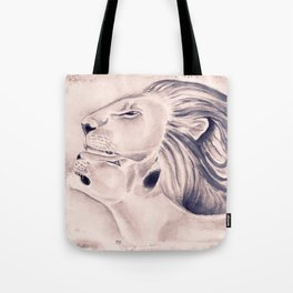 Two Lions Vintage Style Tote Bag