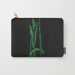 Plantain, green and black Carry-All Pouch