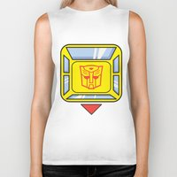 transformers Biker Tanks featuring Transformers - Bumblebee by CaptainLaserBeam