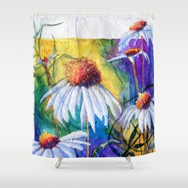 Cone Flowers by Maureen Donovan Shower Curtain