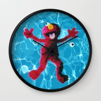 elmo Wall Clocks featuring Elmo by DandyBerlin