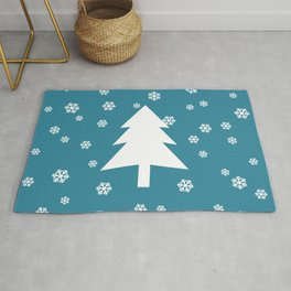 Snowy - teal - more colors Rug