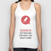 philosophy Tank Tops featuring DESIGN PHILOSOPHY #1 by mJdesign