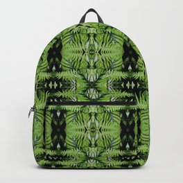 Tropical Green Ferns & Leaves Pattern Backpack