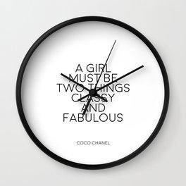 Girls Room Decor Girly Gifts Women Gift Fashion Art Fashion Print Quotes Fashion Wall Art Printable Wall Clock