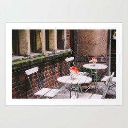 Hidden Cafe Art Print