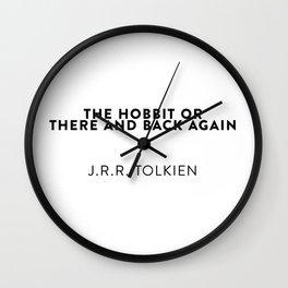 J.R.R. Tolkien Wall Clock
