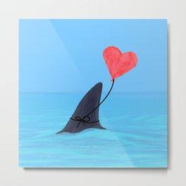 Original Shark Love Design Metal Print
