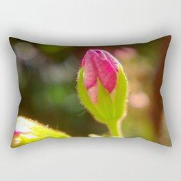 Pink Geranium Flower Bud Rectangular Pillow