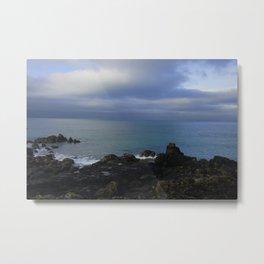 The Atlantic Ocean and Clouds in the Sky Metal Print