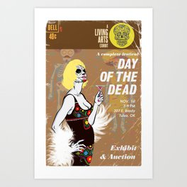 Day of the Dead Exhibition Poster Art Print