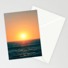Sun setting in Portugal, Peniche. Stationery Cards
