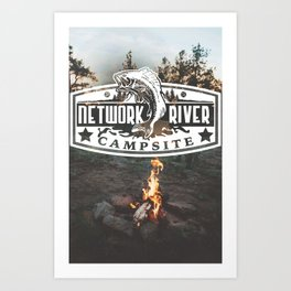 Network River Art Print