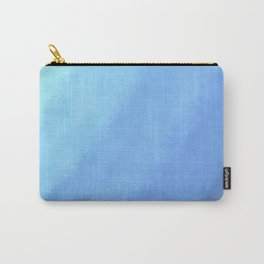 Ripple Effect - Textured Blue Ombre Carry-All Pouch