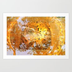 golden circle Art Print