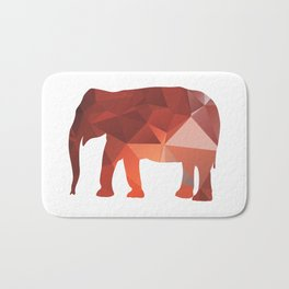 Elephant - Red geomatric Bath Mat