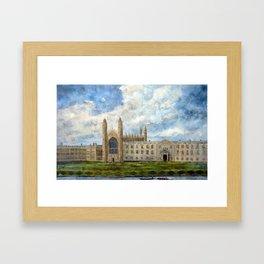 KINGS COLLEGE CAMBRIDGE  Framed Art Print
