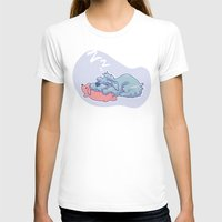 schnauzer T-shirts featuring Sleepy Schnauzer by Lahela Schoessler