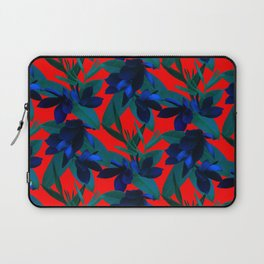 Mixed Paradise Tropicals in Indigo/Red Laptop Sleeve