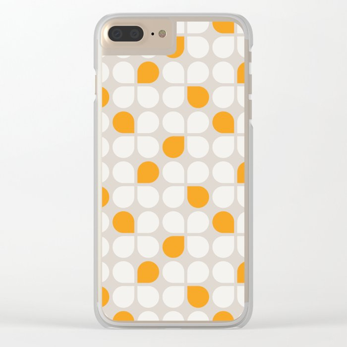 Daisy Crush Floral Pattern Clear iPhone Case