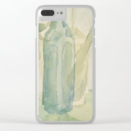 Transparencies in Blue Green Clear iPhone Case