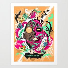 Flying Lotus Art Print