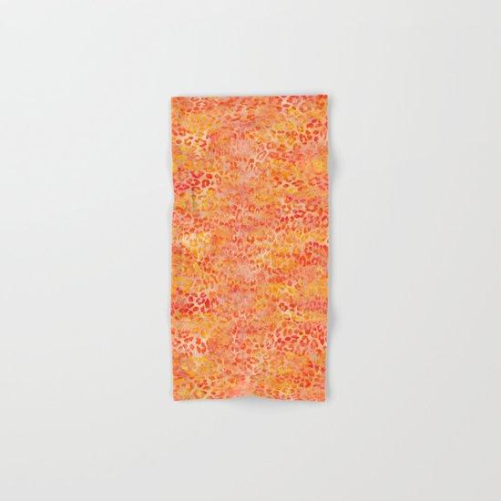 Orange Leopard Print Hand & Bath Towel