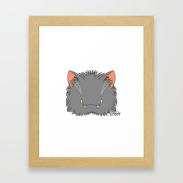 Spoopy Korat Kitty disguise! Framed Art Print