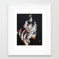 selena Framed Art Prints featuring Selena Smoking by Adam Lentini