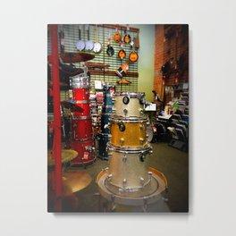 Drum set in a music shop Metal Print