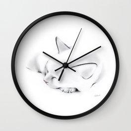 Nap Cat Wall Clock