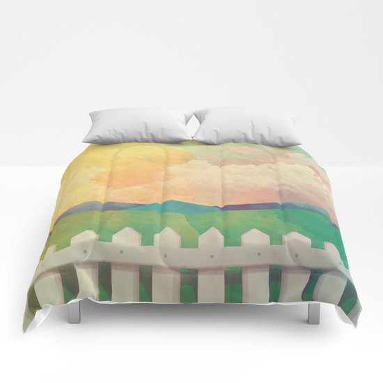 Watercolor Farm Comforters
