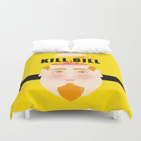 kill bill Duvet Covers featuring Kill Bill by Frikaditas T-Shirts