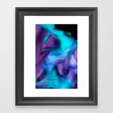Fluid dreams of fall Framed Art Print