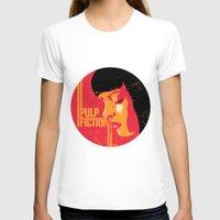 mia wallace T-shirts featuring Mia wallace pulp fiction poster art print movie show minimalistic illustration by Lautstarke