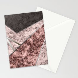 Marble . Combined abstract pattern . Stationery Cards