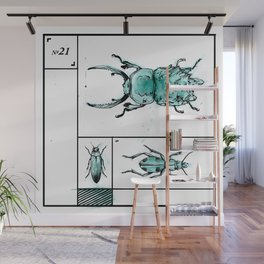Bugs+Stones (Green) Wall Mural