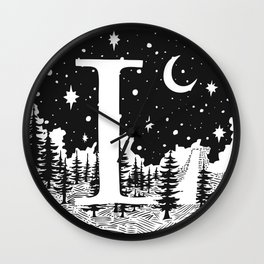 Midnight L Wall Clock