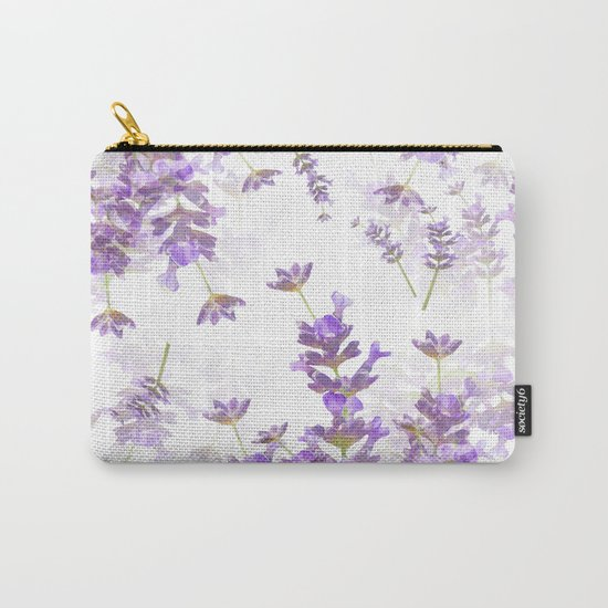 Lavender Bouquets On White Background #decor #society6 #buyart by pivivikstrm