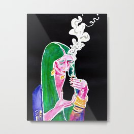 Cannabis Kissed Metal Print