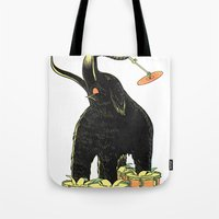 drums Tote Bags featuring Mammoth Drums! by splendidhand