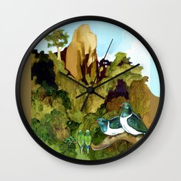Love Under The Mountain Wall Clock
