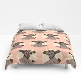 the handsome bull daddy Comforters