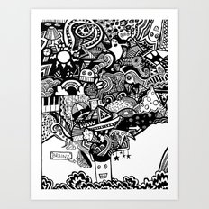mind blown Art Print