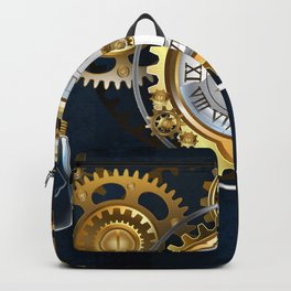 Steampunk Watches and Bulbs Backpack