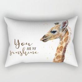 You Are My Sunshine Giraffe Nursery Animals Watercolor Art Rectangular Pillow